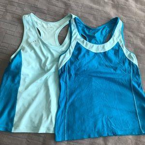 Champion workout tanks with shelf bra